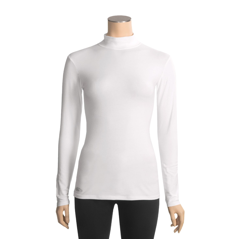 Thriv Comfort Layer Mock Neck Shirt For Women 3734r