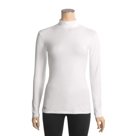Thriv Comfort Layer Mock Neck Shirt - Organic Cotton, Long Sleeve (For Women)