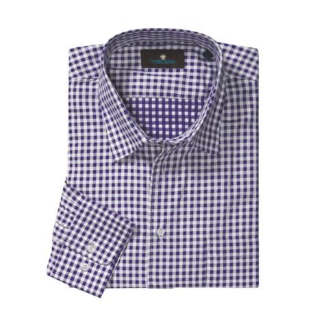 Toscano Check Sport Shirt - Cotton, Long Sleeve (For Men)