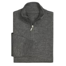Toscano Argyle Jaquard Mock Neck Sweater - Zip Neck (For Men)
