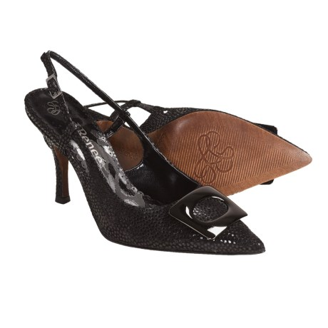 J. Renee Burma Sling-Back Pumps - Leather (For Women)