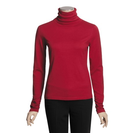 Icelandic Design Ruched Turtleneck - Long Sleeve (For Women)