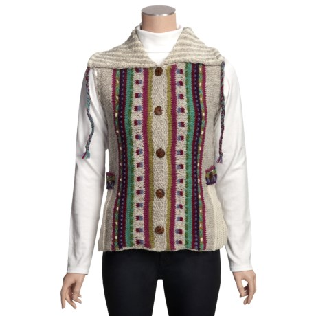 Newari by Icelandic Design Caraway Nepali Vest - Handknit Wool (For Women)