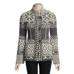 Icelandic Design Loki Cardigan Sweater - Hand Loomed (For Women)