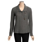 Icelandic Design Lansbury Chunky Cardigan Sweater - Hand Loomed (For Women)