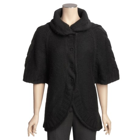 Icelandic Design Grayson Chunky Hand-Loomed Cardigan Sweater (For Women)