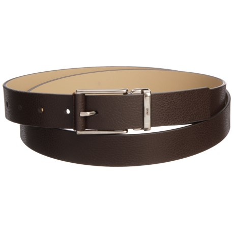 Armani Collezioni Plate Leather Belt - Buckleless (For Men)