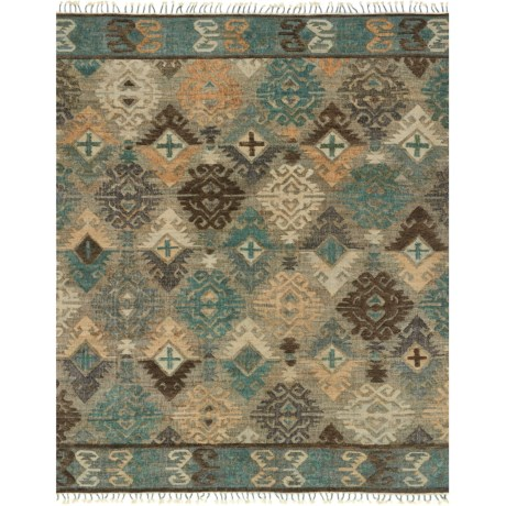"""Loloi Owen Collection Fog and Graphite Area Rug - 5'x7'6"""", Jute-Wool"""