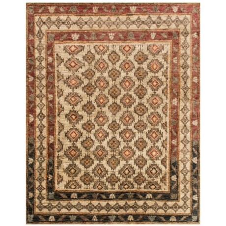 "Loloi Nomad Collection Beige Area Rug - 5'6""x8'6"", Jute"