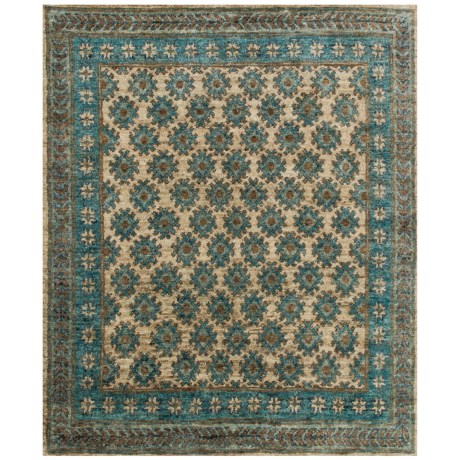 Loloi Nomad Collection Beige and Ocean Scatter Accent Rug - 2x3', Jute