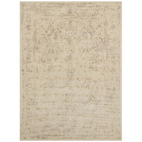 """Loloi Journey Collection Antique Ivory and Slate Area Rug - 5'x7'6"""", Wool-Viscose"""