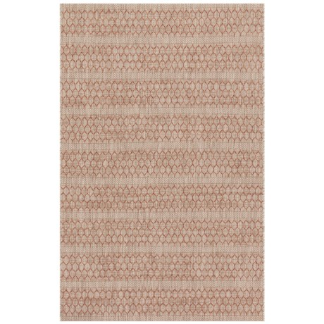 "Loloi Isle Collection Beige and Rust Area Rug - 5'3""x7'7"""