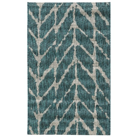 "Loloi Isle Collection Teal and Grey Scatter Accent Rug - 2'2""x3'9"""