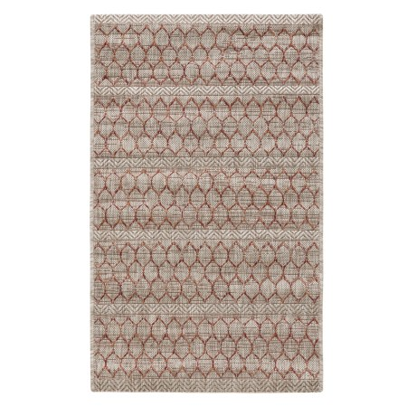 "Loloi Isle Collection Beige and Rust Scatter Accent Rug - 2'2""x3'9"""
