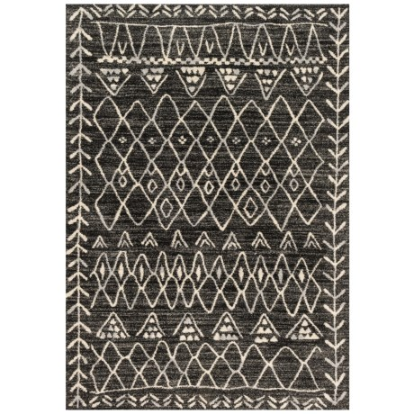 "Loloi Emory Collection Black and Ivory Scatter Accent Rug - 3'10""x5'7"""
