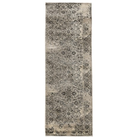 """Loloi Emory Collection Ivory and Charcoal Floor Runner - 2'5""""x7'7"""""""