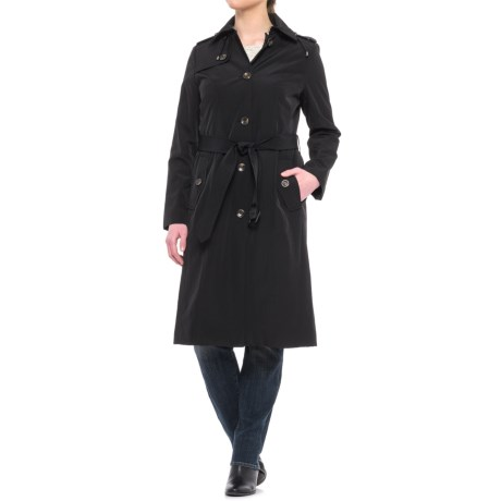 London Fog Midi Trench Coat - Detachable Liner (For Women)