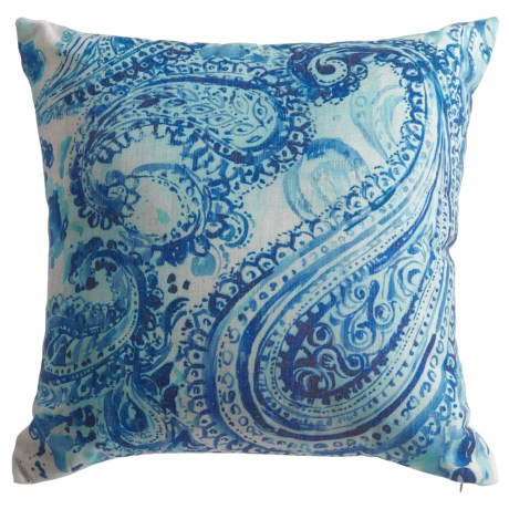 """Levinsohn Muted Paisley Throw Pillow - 18"""", Feathers"""