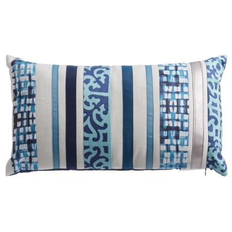 Levinsohn Blue Tonal Striped Throw Pillow - 12x22""