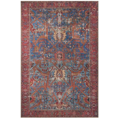 "Loloi Loren Collection Blue and Red Scatter Accent Rug - 2'3""x3'9"""
