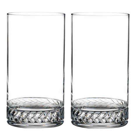 Nambe Crystal Braid Highball Glasses - Set of 2