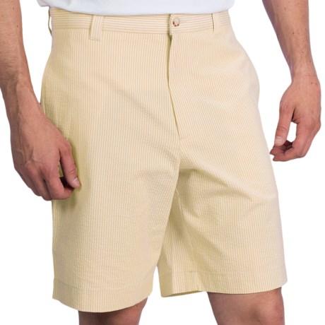 Charleston Khakis Seersucker Shorts - Flat Front (For Men)