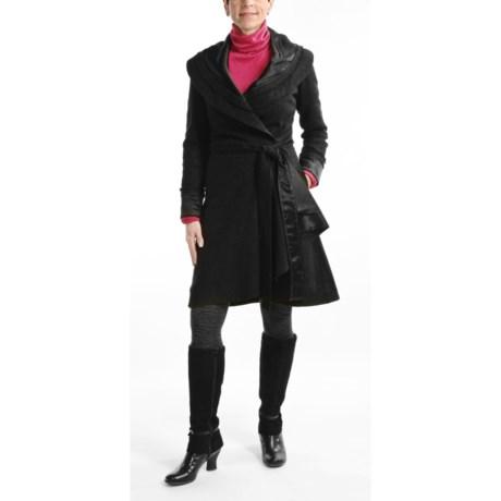 CoVelo Wool Tweed Coat - Wrap (For Women)
