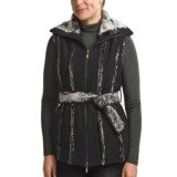CoVelo Amelia Boiled Wool Vest - Faux-Fur Trim (For Women)