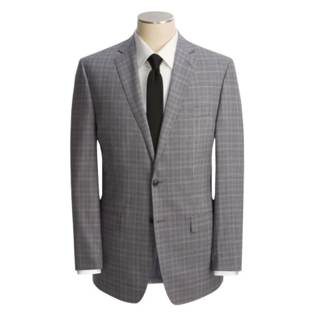 Calvin Klein Glen Plaid Suit - Wool, Slim Fit (For Men)