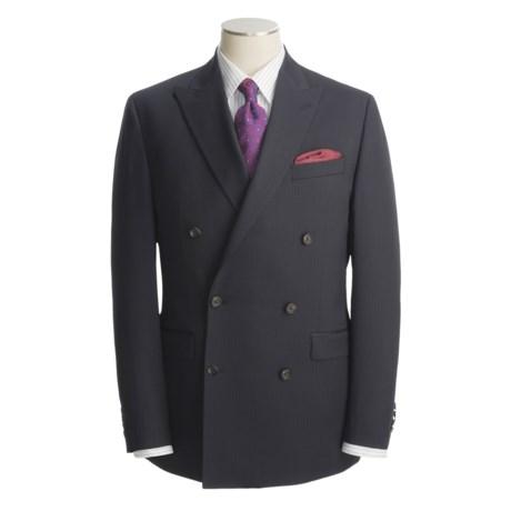 Lauren by Ralph Lauren Double-Breasted Navy Stripe Suit - Wool (For Men)
