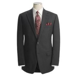 Lauren by Ralph Lauren Dark Charcoal Stripe Suit - Wool (For Men)
