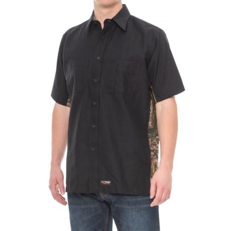 Wrangler Rugged Canvas Camo Trim Work Shirt - Short Sleeve (For Men)
