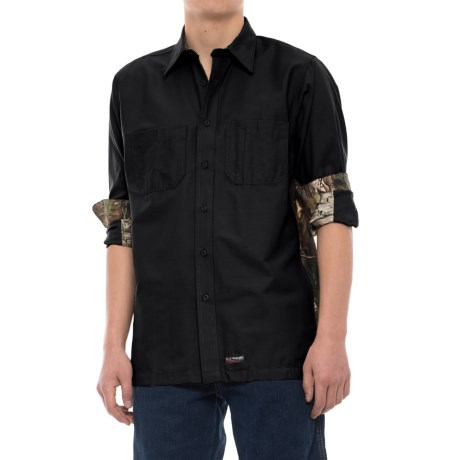Wrangler Rugged Canvas Camo Trim Work Shirt - Long Sleeve (For Men)