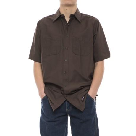 Wrangler Rugged Canvas Work Shirt - Short Sleeve (For Men)