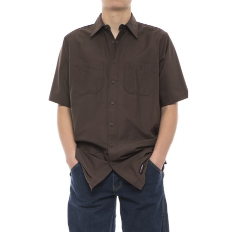 Wrangler Rugged Canvas Work Shirt - Short Sleeve (For Men)
