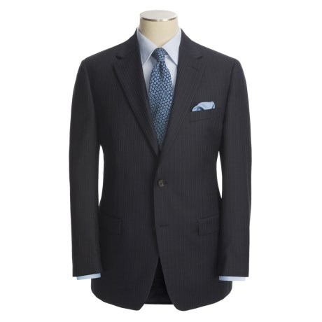 Lauren by Ralph Lauren Navy Beaded Stripe Suit - Wool (For Men)