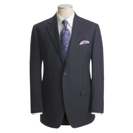 Lauren by Ralph Lauren Blue Stripe Suit - Wool (For Men)