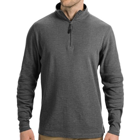 Younique Clothing Pacific Teaze Mini Waffle Pullover Shirt - Zip Neck (For Men)