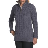 Peregrine by J.G. Glover Cardigan Sweater - Peruvian Merino Wool, Zip Neck (For Women)