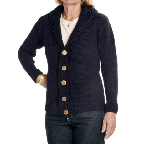 Peregrine by J. G. Glover Peruvian Merino Wool Cardigan Sweater - Shawl Collar (For Women)