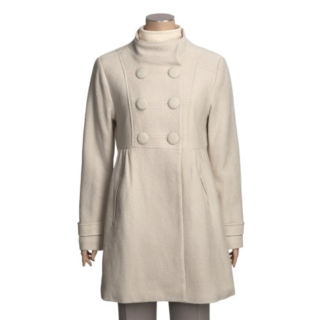 Monroe & Main Wool Boucle Coat - Double Breasted (for Women)