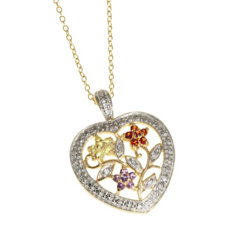 Prime Art Heart Pendant Necklace - 18K Gold-Sterling Silver