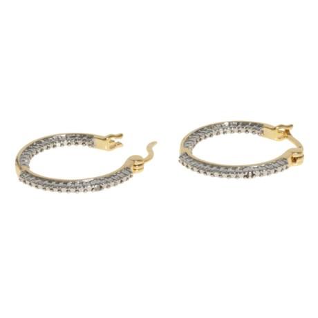 Prime Art Hoop Earrings - 18K Gold-Plated Sterling Silver