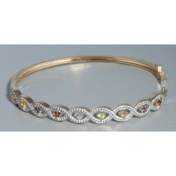 Prime Art Bangle Bracelet - 18K Gold-Plated Sterling Silver