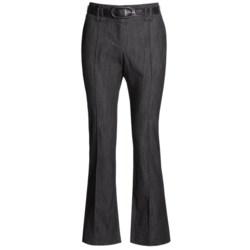 In Moda Belted Dress Pants - Stretch Denim (For Women)