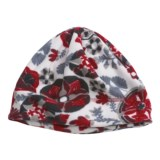 Turtle Fur Printed Fleece Beanie Hat - Micro Fur Fleece (For Women)