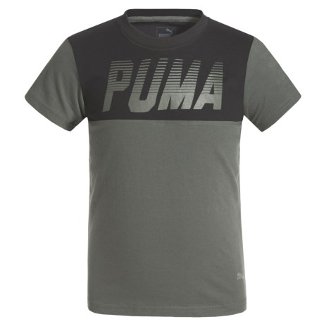 Puma Screenprint Pieced Shirt - Short Sleeve (For Little Boys)