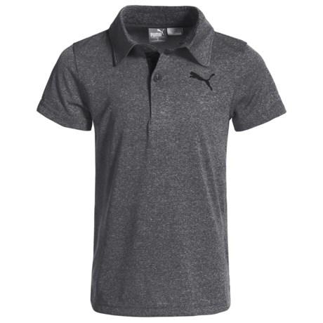 Puma Heathered High-Performance Polo Shirt - Short Sleeve (For Little Boys)