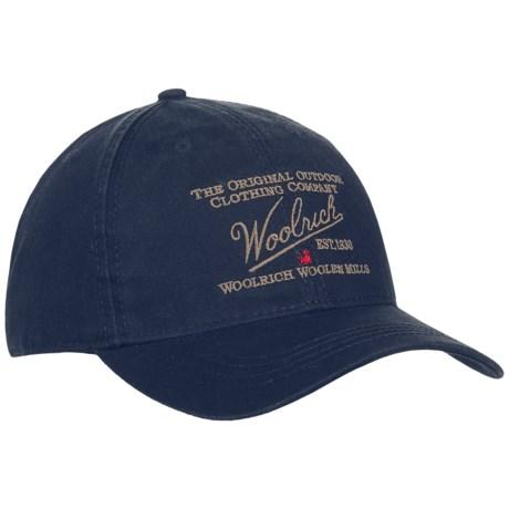 Woolrich Twill Baseball Cap (For Men)