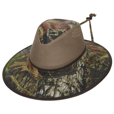 Dorfman Pacific Camo Mesh Crown Safari Hat - UPF 50+ (For Men)